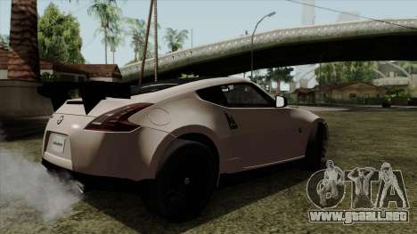 Nissan 370Z Nismo para GTA San Andreas left