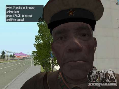El Comisionado De Markov para GTA San Andreas sexta pantalla