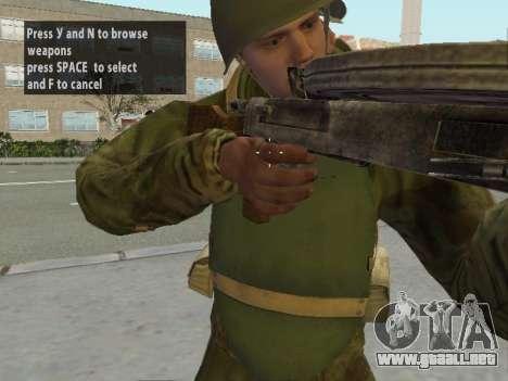 Los soldados del ejército rojo en la armadura para GTA San Andreas séptima pantalla