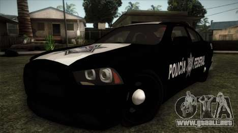 Dodge Charger 2013 Policia Federal Mexico para GTA San Andreas