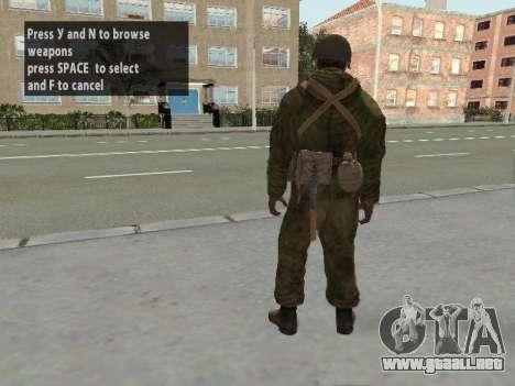 Los soldados del ejército rojo en la armadura para GTA San Andreas sexta pantalla