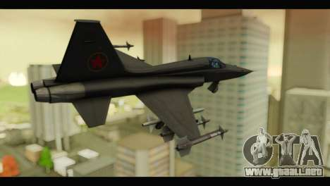 Northrop F-5E Top Gun para GTA San Andreas left