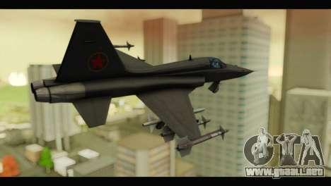 Northrop F-5E Top Gun para GTA San Andreas left