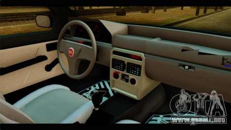 Fiat Uno Fire Mille para GTA San Andreas vista posterior izquierda