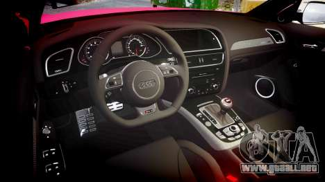 Audi S4 Avant 2013 para GTA 4 vista interior