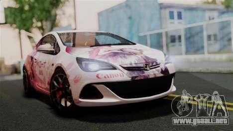 Vauxhall Astra VXR 2012 Itasha para GTA San Andreas
