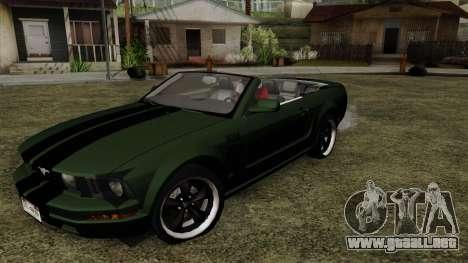Ford Mustang Boss Cabriolet 2005 para GTA San Andreas