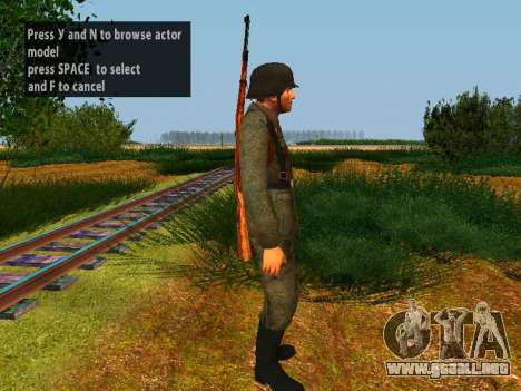 Spanish soldiers para GTA San Andreas sexta pantalla