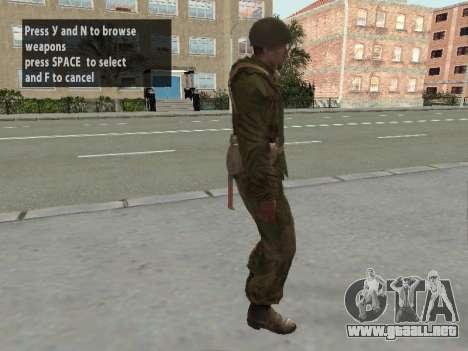 Los soldados del ejército rojo en la armadura para GTA San Andreas quinta pantalla