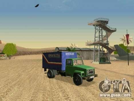 GAZ 3309 para vista inferior GTA San Andreas