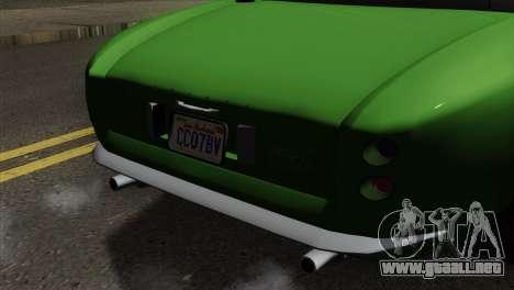 GTA 5 Grotti Stinger v2 SA Mobile para GTA San Andreas vista hacia atrás