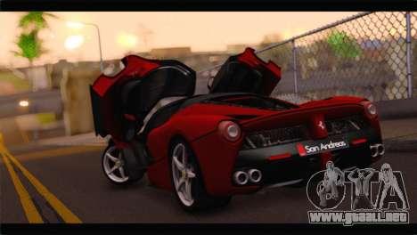 Ferrari LaFerrari 2014 para GTA San Andreas left