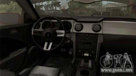 Ford Mustang Boss Cabriolet 2005 para la visión correcta GTA San Andreas
