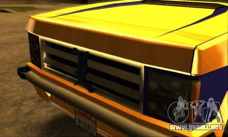 Luni Huntley para vista inferior GTA San Andreas