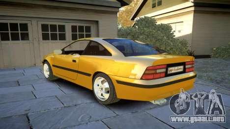 Opel Calibra v2 para GTA 4 Vista posterior izquierda