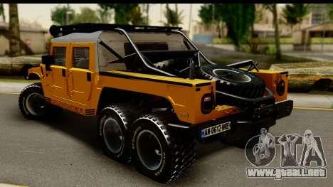 Hummer H1 6-Wheel para GTA San Andreas left