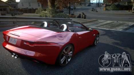 Jaguar F-Type v1.6 Release [EPM] para GTA 4 visión correcta