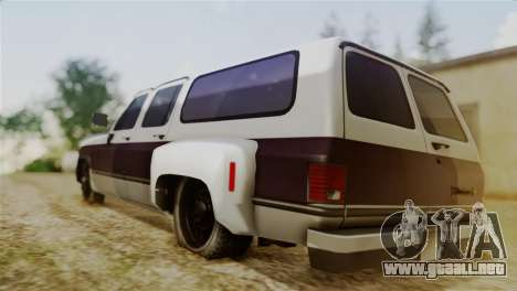 Chevrolet Suburban Dually para GTA San Andreas left