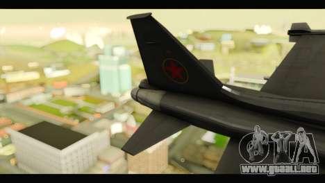 Northrop F-5E Top Gun para GTA San Andreas vista posterior izquierda