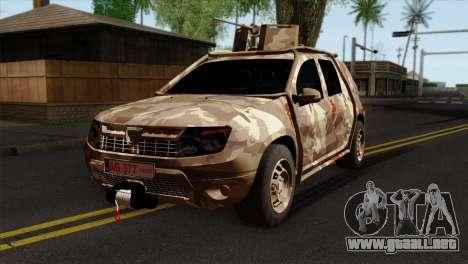 Dacia Duster Army Skin 4 para GTA San Andreas