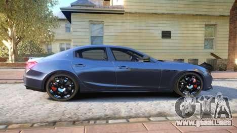Maserati Ghibli 2014 v1.0 para GTA 4 vista hacia atrás