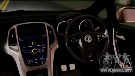 Vauxhall Astra VXR 2012 Itasha para GTA San Andreas vista hacia atrás