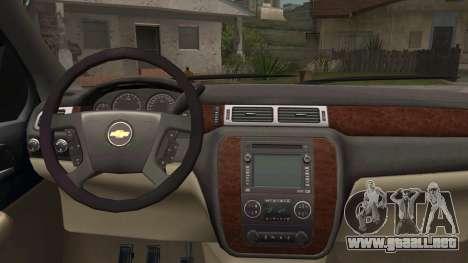 Chevrolet Silverado para la visión correcta GTA San Andreas