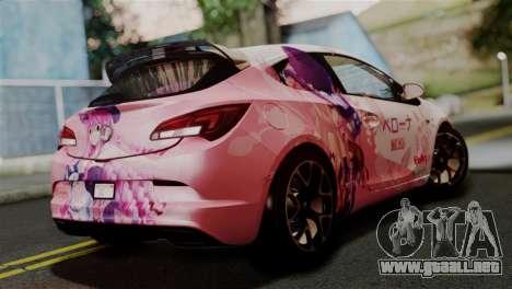 Vauxhall Astra VXR 2012 Itasha para GTA San Andreas left