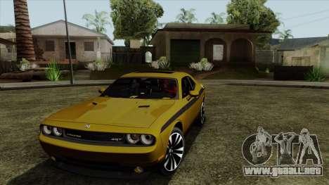 Dodge Challenger Yellow Jacket para GTA San Andreas left