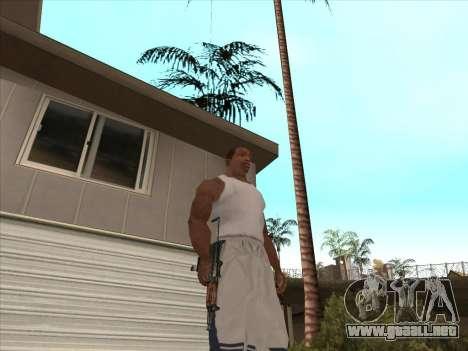 Ruso metralletas para GTA San Andreas sexta pantalla