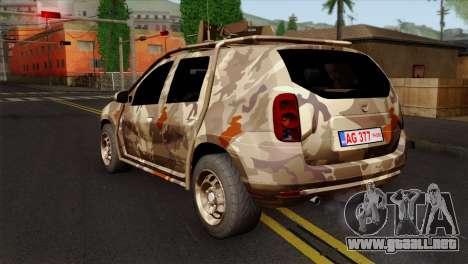 Dacia Duster Army Skin 4 para GTA San Andreas left