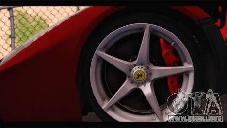 Ferrari LaFerrari 2014 para la visión correcta GTA San Andreas