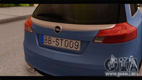 Opel Insignia Wagon para GTA San Andreas vista hacia atrás