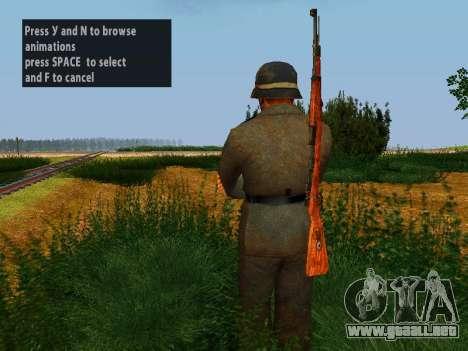 Spanish soldiers para GTA San Andreas quinta pantalla