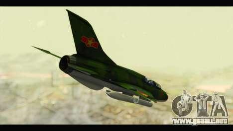 Mikoyan-Gurevich MIG-21UM Vietnam Air Force v2.0 para GTA San Andreas left