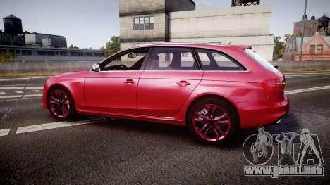 Audi S4 Avant 2013 para GTA 4 left