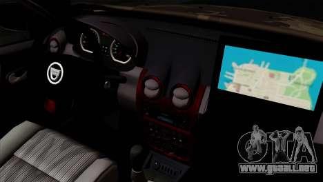 Dacia Duster Army Skin 4 para la visión correcta GTA San Andreas