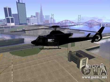 GTA 5 Valkyrie para GTA San Andreas vista hacia atrás