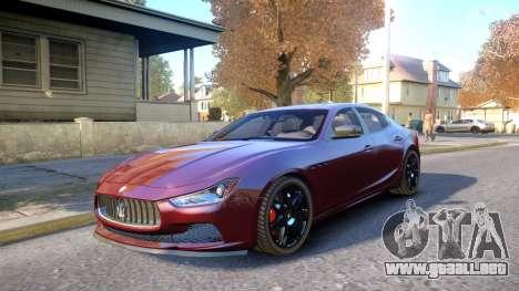 Maserati Ghibli 2014 v1.0 para GTA 4 vista interior