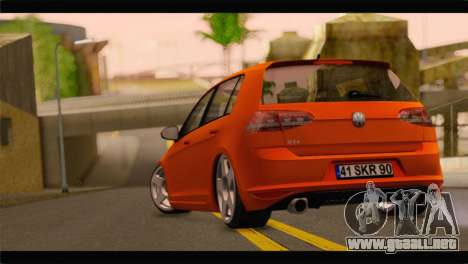 Volkswagen Golf GTI 2014 para GTA San Andreas left