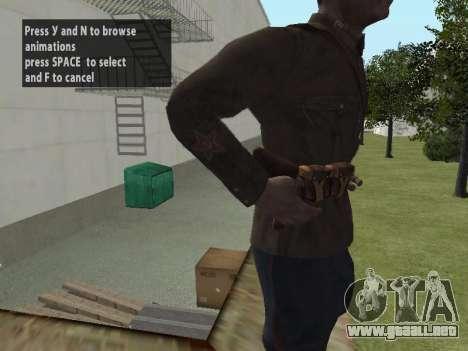 El Comisionado De Markov para GTA San Andreas sucesivamente de pantalla