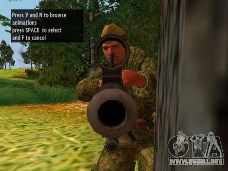 Los soldados del ejército rojo para GTA San Andreas quinta pantalla