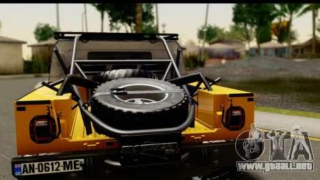 Hummer H1 6-Wheel para la visión correcta GTA San Andreas