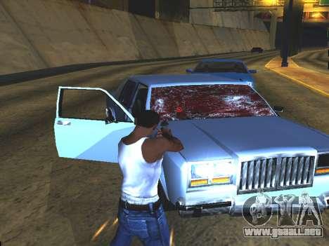 Sangre en las Ventanas de los coches para GTA San Andreas sucesivamente de pantalla