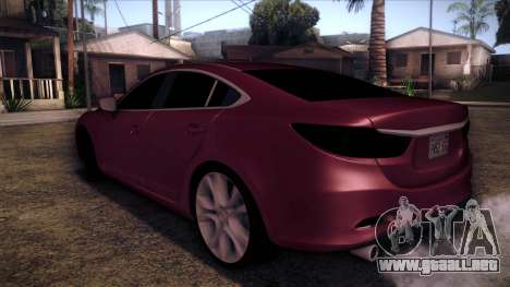 Mazda 6 2013 HD v0.8 beta para GTA San Andreas left