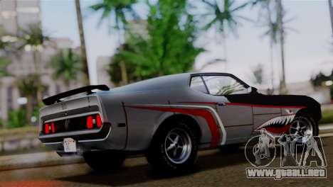 Ford Mustang Mach 1 429 Cobra Jet 1971 HQLM para vista inferior GTA San Andreas