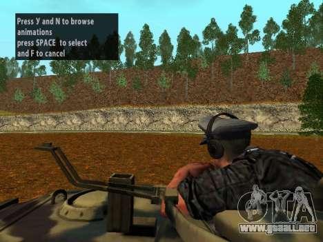 Tanque alemán comandante para GTA San Andreas quinta pantalla