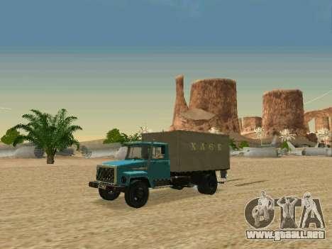 GAZ 3309 para GTA San Andreas vista hacia atrás