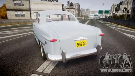 Ford Custom Club 1949 v2.2 para GTA 4 Vista posterior izquierda
