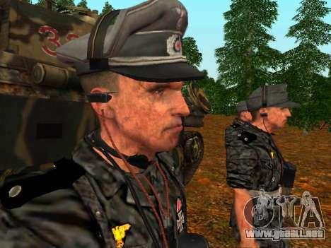 Tanque alemán comandante para GTA San Andreas tercera pantalla